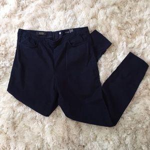 J. Crew DANNIE Navy Pants Gold Zipper 🌊